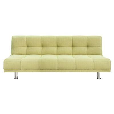 Sofa verde pistacho sof plazas verde tejido metal xxcm for Cuanto sale un sofa cama