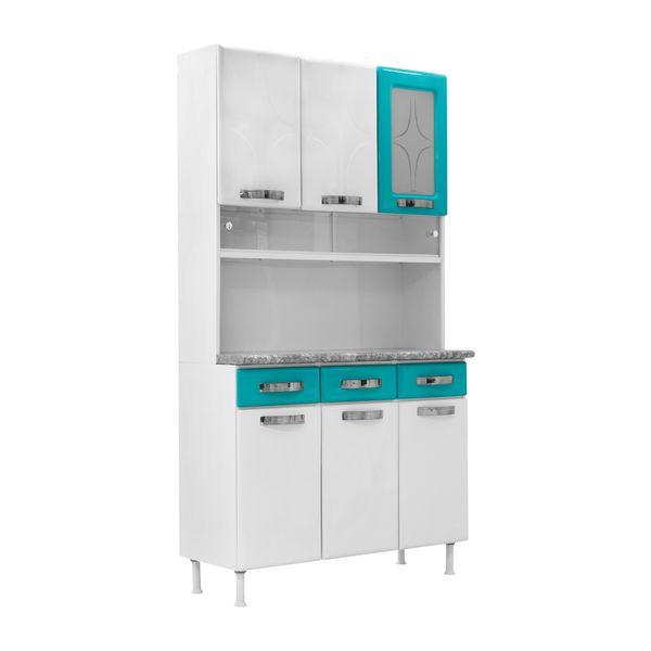 Mueble de Cocina Blanco con Turquesa M26779| Compra en PYCCA - pycca